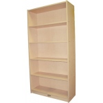 "Mahar Single-Sided Bookcase with 5 Fixed Shelves: Maple, 36"" x 14"" x 72"""