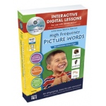 Classroom Complete IWB Software: High Frequency Picture Words, Digital Lesson Plans, Grades: PK, K, 1, 2