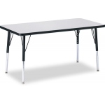 "Jonti-Craft Elementary RidgeLine KYDZ Activity Table: Gray Top, Rectangle 30"" x 60"", 15"" to 24"" High"