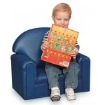 Brand New World Infant Toddler Vinyl Furniture: Blue Chair, For Ages 18-36 Months