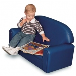 Brand New World Infant Toddler Vinyl Furniture: Blue Sofa, For Ages 18-36 Months
