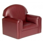 Brand New World Infant Toddler Vinyl Furniture: Port Burgundy Chair, For Ages 18-36 Months