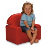 Brand New World Infant Toddler Vinyl Furniture: Red Chair, For Ages 18-36 Months