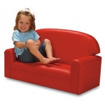 Brand New World Infant Toddler Vinyl Furniture: Red Sofa, For Ages 18-36 Months