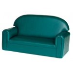 Brand New World Infant Toddler Vinyl Furniture: Teal Sofa, For Ages 18-36 Months