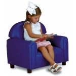 Brand New World Preschool Vinyl Furniture: Blue Chair, For Ages 3-6 Years
