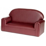 Brand New World Preschool Vinyl Furniture: Port Burgunday Sofa, For Ages 3-6 Years