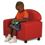 Brand New World Preschool Vinyl Furniture: Red Chair, For Ages 3-6 Years