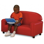 Brand New World Preschool Vinyl Furniture: Red Sofa, For Ages 3-6 Years