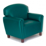Brand New World Preschool Vinyl Furniture: Teal Chair, For Ages 3-6 Years