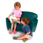 Brand New World Preschool Vinyl Furniture: Teal Sofa, For Ages 3-6 Years