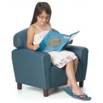 Brand New World Enviro-Child Upholstery Furniture: Blue Chair, For Ages 3-6 Years