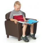 Brand New World Enviro-Child Upholstery Furniture: Chocolate Chair, For Ages 3-6 Years
