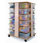 Whitney Brothers 24 Tray Cubby Tower: Art Storage Furniture