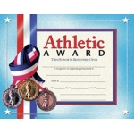 Certificates Athletic Award 30/pk 8.5 X 11 Inkjet Laser