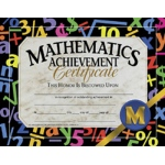 Certificates Mathematics 30/pk Achievement 8.5 X 11