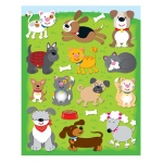Dogs & Cats Shape Stickers 78pk