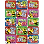 100 Days Of School Bees Success Stickers