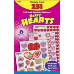 Happy Hearts Variety Pk Mixed Sticker Variety Pks