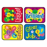 Applause Stickers Bright 100/pk Butterflies Acid-Free