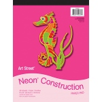 Neon Construction Pad 9x12