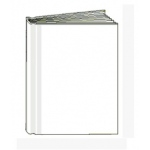 White Hardcover Blank Book 8-1/8x6-3/8