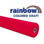 Rainbow Kraft Roll 100 Ft Flame Red