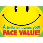 A Smile Improves Your Face Value Argus Large Poster