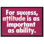 Poster For Success Attitude Is 13 X 19 Large