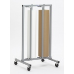 "Bulman Double Roll Vertical Paper Rack: 48"" for 40"", 48"""