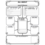 All About Me Web Graphic Organizer Posters