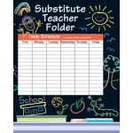 Substitute Folder Elem Kid-Drawn 9 X 11 W/ Pocket