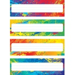 Splashy Colors Name Plates Variety Pack Of 4 Designs 32 Plates