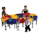 Early Childhood 10 Station Sand & Water Play Table with Lids