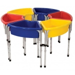 Early Childhood 6 Station Sand & Water Play Table with Lids