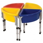 Early Childhood 4 Station Round Sand & Water Play Table with Lids