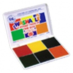 Stamp Pad 6 Pads In One / Red Blue Orange Yellow Green Purple