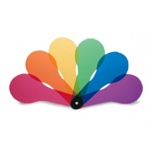 Color Paddles 18-Set 6 Transparent Six Colors