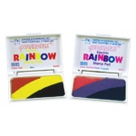 Stamp Pad Rainbow Electric 3 Colors Washable