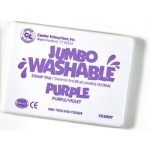 Jumbo Stamp Pad Purple Washable