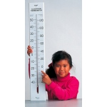 Giant Classroom Thermometer 30t Dual-Scale Wooden Frame