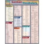BarCharts German Vocabulary Quick Study Guide