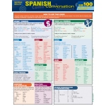 BarCharts Spanish Conversation Quizzer Quick Study Guide