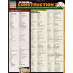 BarCharts Spanish For Construction 2 Quick Study Guide