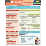 BarCharts Spanish Fundamentals 1 Quizzer Quick Study Guide