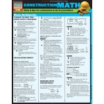 BarCharts Construction Math Quick Study Guide