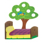 Five Little Monkeys Bed & Tree - Printed Props