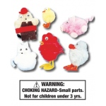 Little Red Hen Characters: Set of 6