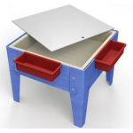 "ChildBrite Mites/Sensory Table: 18"" H Toddler Mite with Tray & Lid"
