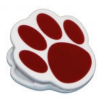 Magnet Clips Maroon Paw